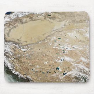 Satellitenansicht der tibetanischen Hochebene Mauspads