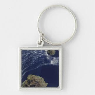 Satellitenansicht des Prinzen Edward Islands Schlüsselanhänger