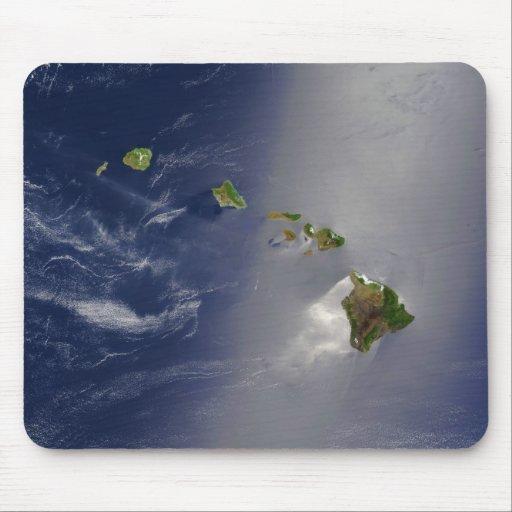 Satellitenansicht von Hawaii-Archipel-Inseln Mauspads