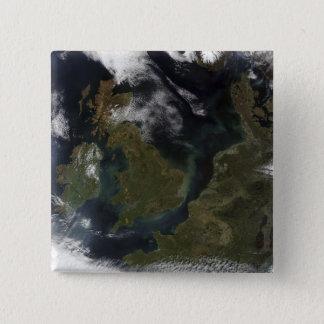 Satellitenansicht von Nordeuropa Quadratischer Button 5,1 Cm
