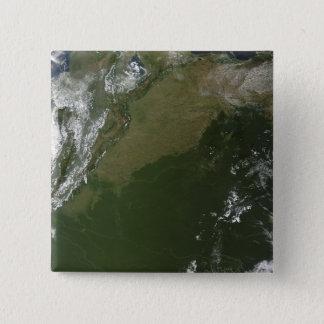 Satellitenansicht von Ostkolumbien Quadratischer Button 5,1 Cm