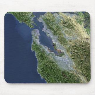 Satellitenansicht von San Francisco, Kalifornien Mousepad