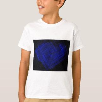 SatellitenBuntglas im mutigen Blau T-Shirt