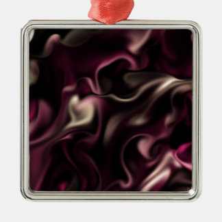 Satin HIMBEERLiebe durch OELA Silbernes Ornament