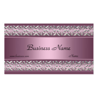Satin-rosa silberne Ordnungs-elegante Visitenkarte
