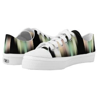 Satin-Streifen Niedrig-geschnittene Sneaker
