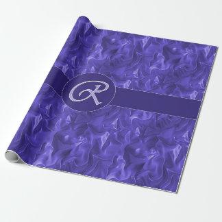 Satin-Verpackungs-Papier des Monogramm-R lila Geschenkpapier