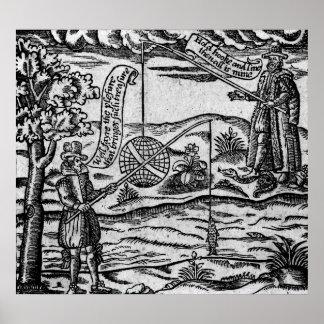 Satire des Fischens, 'Buch Roxburghe Balladen Plakatdruck