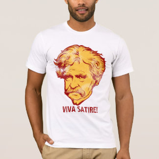"Satiren-"" T - Shirt Mark Twain ""Viva"