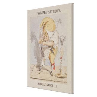 Satirical Fantasien, Karikatur von Adolphe Galerie Gefaltete Leinwand