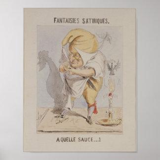 Satirical Fantasien, Karikatur von Adolphe Poster