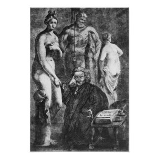 Satirical Porträt von Laurence Sterne, c.1761 Plakate