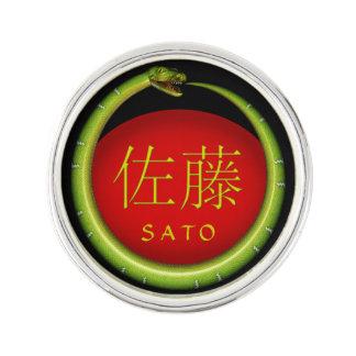 Sato-Monogramm-Schlange Anstecknadel