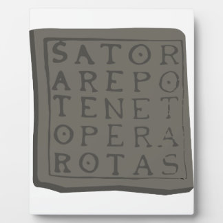 Sator Quadrat Fotoplatte