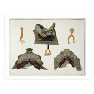 Sattel und Sporne, Platte von 'einer Geschichte Postkarte