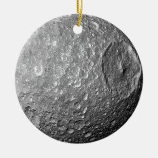 Saturn-Mond Mimas Keramik Ornament