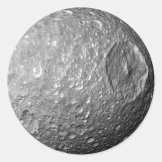 Saturn-Mond Mimas Runder Aufkleber