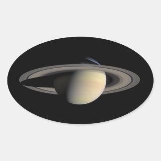 Saturn-Oval-Aufkleber Ovaler Aufkleber