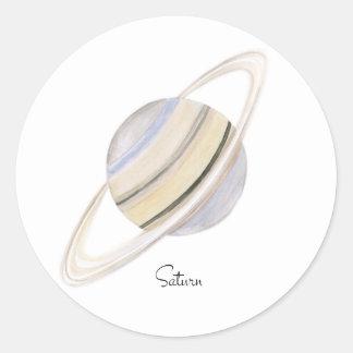 Saturn Runder Aufkleber