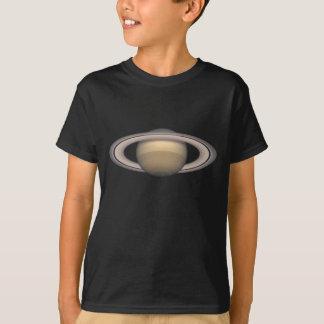 Saturn scherzt dunkler Raum-und Astronomie-T - T-Shirt