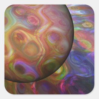Saturn-Steigen Quadratischer Aufkleber
