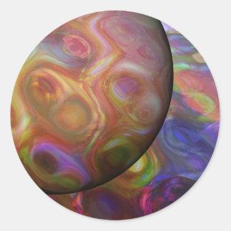 Saturn-Steigen Runder Aufkleber