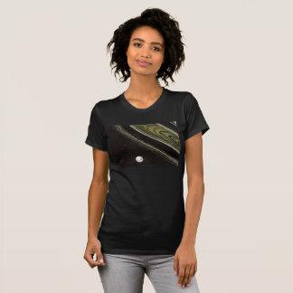 Saturn and Tethys t-shirt