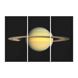 Saturn während des Äquinoktikums Leinwanddruck