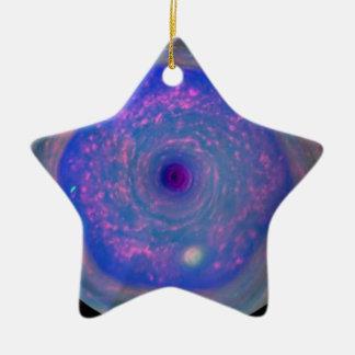 Saturns sechseckiger Sturm Keramik Ornament