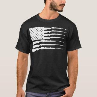 SATX POR VIDA Gewehr-Flagge T-Shirt