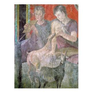 Satyr und Nymphe Postkarte