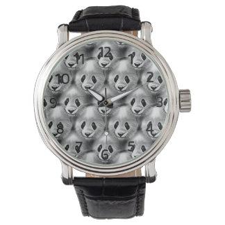 Satz der Panda-Uhr Handuhr