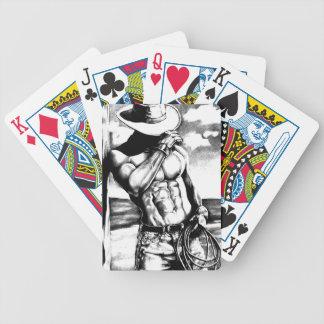 Satz-Spielkarten mit hübschem Cowboy Bicycle Spielkarten