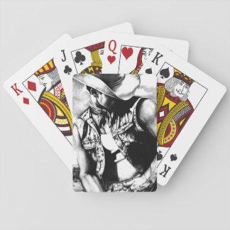 Satz ursprünglicher Kunst-Cowboy-Spielkarten Spielkarten