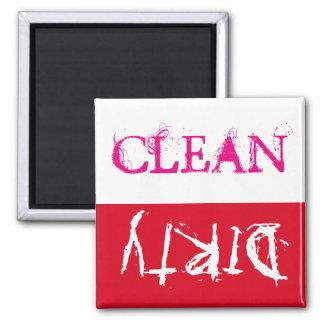 Sauber oder schmutzig… Ihr Anruf!! Quadratischer Magnet