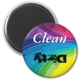 Sauber-Schmutziger Küchen-Magnet Kühlschrankmagnet