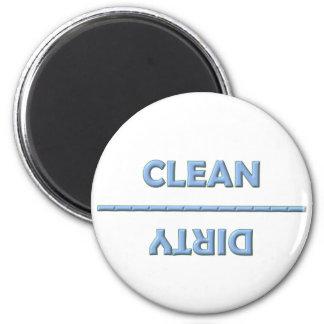 Sauber-Schmutziger Magnet Kühlschrankmagnet
