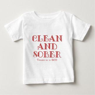 Sauber und nüchtern baby t-shirt