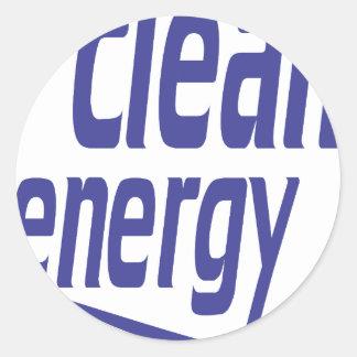 Saubere Energie Runder Aufkleber