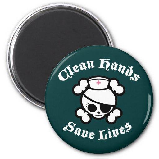 Saubere Hände retten die Leben Magnete