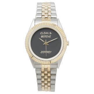 Saubere u. ruhige Armbanduhr, Ton zwei, Unisex Uhr