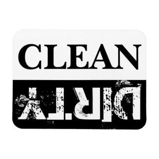 Saubere und schmutzige Spülmaschine Rechteckige Magnete