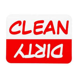 Saubere und schmutzige Spülmaschine Flexible Magnete