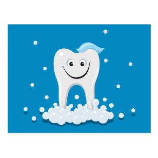 Sauberer lächelnder Zahn Postkarte