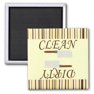 Sauberer oder schmutziger quadratischer magnet