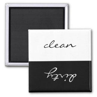 Sauberer oder schmutziger Spülmaschinen-Magnet Quadratischer Magnet