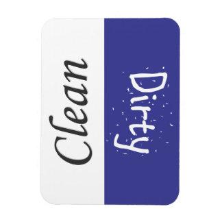 Sauberer und schmutziger Abwasch-Magnet Vinyl Magnet