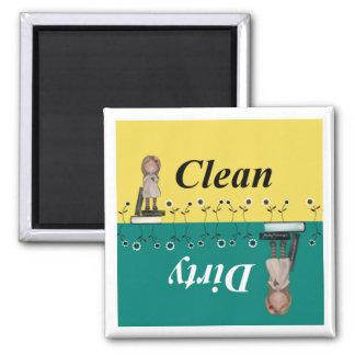 Sauberer und schmutziger Spülmaschinen-Magnet Kühlschrankmagnete