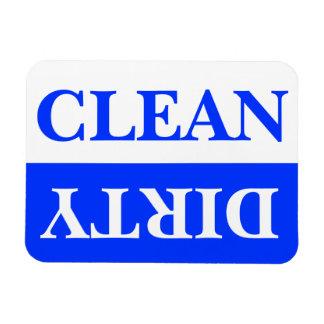 Sauberer und schmutziger Spülmaschinen-Magnet, bla Magnet
