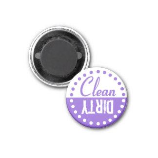 Sauberer und schmutziger Spülmaschinen-Magnet Runder Magnet 3,2 Cm